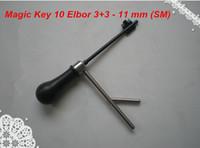Wholesale Magic Key Lock - New arrival Free shipping locksmith tools decoder MAGIC KEY 10 for Elbor 3+3, Rex, Klass- 11 mm (SM)