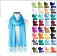 Wholesale Candy Skull Ring - Scarfs for women Lady Mixed Candy Colour Pick fashion Long Scarf Shawl Wrap IN stock LB12