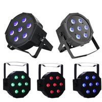 quad remote großhandel-LED FlatPar 7x10 Watt Quad RGBW SlimPar Licht - Fernbedienung - Up-Beleuchtung - Bühnenbeleuchtung Club Lichter bewegen