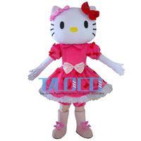 Wholesale Mascot Kitty - New! Miss Hello Kitty Mascot Costume Adult Size Hello Kitty Mascot Costume High Auality Adult Mascot Costume