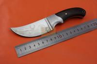 kizarma sabit bıçak av bıçakları toptan satış-Browning Afrika Gergedan avcılık bıçaklar 440C 57HRC bakır kafa + Gül ahşap kolu Kamp Survival için sabit bıçak bıçaklar