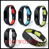 Wholesale dual color watches online - For Xiaomi Mi TPU Dual Color Silicone Smart Bracelet Wristband band Replacement Strap Miband Accessories Strap environment watch band