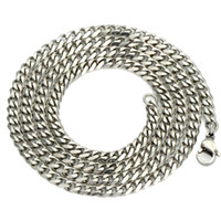 Wholesale Hot New Mens Chain Necklace - 2016 New Hot Fashion Mens Jewelry 5 7MM Stainless Steel Silver Curb Cuban Chain Necklace Charm Jewelry