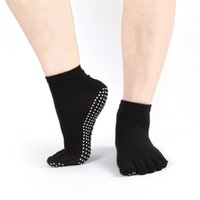 Wholesale Womens Socks Polka Dot - Wholesale-Delicate Hot! 2016 Womens Cotton Colorful Gym Non Slip Massage Toe Socks Full Grip With Socks M24 P14