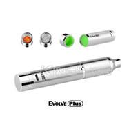 Wholesale E Cigarette Dual - Genuine Yocan Evolve Plus Starter Kits 1100mah Battery Quartz Dual Coil e cigarette wax vaporizer pen starter kits atomizer