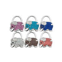 Wholesale Tote Bags Favor Wholesale - Fashion Handbag Hook Elephant Purse Holder Desk Anti-Slip Tote Bag Hanger Wedding Birthday Party Favor And Gift ZA4305