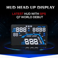 Wholesale Q7 smart HUD Head Up Display quot Auto Car HUD GPS Speedometers Overspeed Warning intelligent dashboard Projector