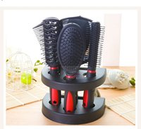Detangling Brush All Hair Types ABS Black Comb Kit Hair Care with Mirror Make up Fashion Hair Brush HairBrushes Combs TT Magic straighten