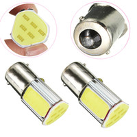 Wholesale Led Brake Light Assembly - Triangle Shape Car Brake Backup Light Bulb High Power COB LED DC12V 1156 BA15S Automotive Tail Lamp