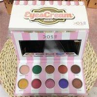 Wholesale Ice Cream Eye - Dose Of Colors Eyecream Eyeshadow Palette 10 Colors Waterproof Easy On The Makeup Ice Cream Color Eye Shadow Eye Cream Palette