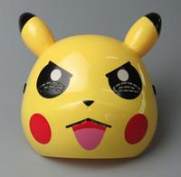 Wholesale Dancing Children Costume - New New Halloween Fashion Mask LED poke Pikachu Party Mask Dance Mask Costume Party Children Mask