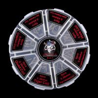 vorgebildete ausländische spulen großhandel-Dämonenmörder 8 in 1 Vorbau-Spulenkit Quad Tiger Flat Twisted Fused Clapton Hive Alien Clapton Mix Twisted Coils
