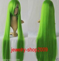 Wholesale Code Geass Free - Free Shipping>>New wig Cosplay CODE GEASS Green Straight Wig 100cm