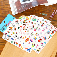 Vente en gros - 6 feuilles / 1 set kawaii Autocollants Gracebell Gilrs journaliste deco planner autocollants / note autocollant / Décoration Label