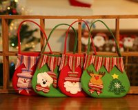 Wholesale Wholesale Dinner Party Supplies - Christmas Day Decoration Santa Large Sack Stocking Big Gift bags Xmas Gifts New Year Festive Dinner Party gifts supplies