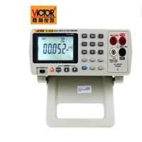 Wholesale Bench Dmm - Wholesale-High-accuracy Auto Range Dual Display True RMS 4 2 3 Bench Top Multimeter DMM 33000 Counts DCA 0.05% DCV 0.03% USB VC8145B