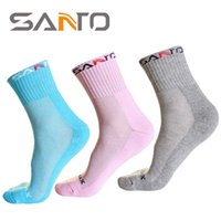 Wholesale Silk Tube Socks - 2016 Spring Summer 1pair Lot SANTO Women's Coolmax In Tube Socks Sports Cycling Quick-dry Socks Breathable Outdoor Camping