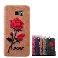 Wholesale Iphone Handmade Hard Case - Chinese Rose Embroidery Case for iPhone 6  6S  Plus Hard Art Handmade Flower Back Cover Case