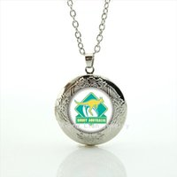 Wholesale Crystals Australia - Valentine's day gift jewelry kangaroo picture locket necklace Australia rugby football team jewelry for men and women NF019