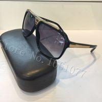 top designer achat en gros de-Livraison gratuite de mode luxe preuve de lunettes de soleil rétro vintage hommes concepteur brillant cadre en or laser logo femmes top qualité avec le paquet