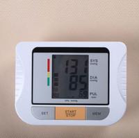 Wholesale Blood Pressure Machine Wholesale - Blood pressure measuring instrument LCD Blood Pressure Monitor Heart Beat Meter Machine Gauge 250pcs lot free shipping