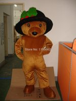 Wholesale Teddy Bear Mascot Suit - Wholesale-MASCOT CITY Lovely Long Hair Plush Brown Teddy Bear Mascot Costume Adult Size Teddy Bear Mascotte Suit Fit Fancy Dress Free Ship