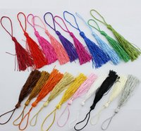 Wholesale Wholesale Curtains Tassel Fringe - DHL Free shipping Mixed Color Silky Fringe Decorative Tassel new DIY Accessories for Garment Curtain Jewelry Home craft Charms