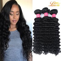8A Branche brésilienne Deep Wave Unprocessed Brésilien Péruvien Malais Indien Cheveux Humains Deep Wave Bundles Extension Brazilian Virgin Hair Weft