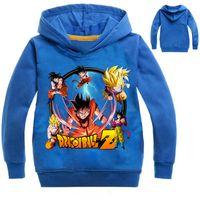 Wholesale dragon ball coat - 2017 Children Dragon Ball Z Clothing Coat Boys Hoodies and Sweatshirts Long Sleeve T shirt For Kids Boys Girls Clothes