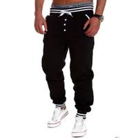 baggy tanzen hose großhandel-Großhandels-Gym Bekleidung Mens Casual Jogger Rock Männer Harem Jogger Baggy Hip Hop Dance Jogger Sport Sweat Hosen Männer Hosen 01c0114