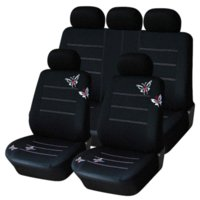 Wholesale butterfly seat covers online - AUTOYOUTH Butterfly Embroidered Car Seat Cover Universal Fit Most Vehicles Seats Interior Accessories Black Seat Covers