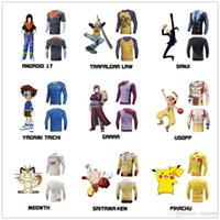 Wholesale One Piece Shirts For Women - One Piece T shirt 2017 Fashion Japanese Anime Clothing Back Color 3 D Cotton T-shirt For Man And Women