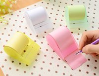 Wholesale Post Notes Holder - Sticky Post It Note Paper with cut holder Memo sticker Pad Gift Office Supplies cut size as you will