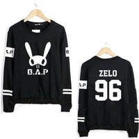 Wholesale Letter S K - Hoodie Unisex Sweatshirt K-pop B.A.P Zelo Long Sleeve Hoodies Sweatshirts B.A.P Kpop Couple Women Hoodie