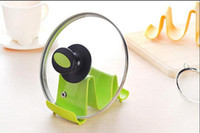 Wholesale 24 Plastic Kitchen Pot Pan Cover Lid Shell Stand Shelf Holder Rack Cooking Tool Hot