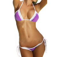 Wholesale Plus Size Bandeau Bras - 2016 Sexy Lace Women Bikini Set Bandeau Bikinis Push UP Brazilian Swimwear Swimsuit Bath Suit Beachwear Bra Briefs Bandage Bikini Plus Size