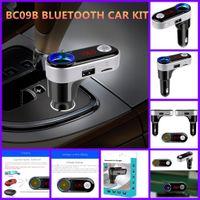 kit usb mp3 mp4 venda por atacado-Bc09b car mp3 player de áudio bluetooth transmissor fm sem fio modulador de fm kit car handsfree usb carregador para iphone