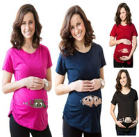 Wholesale 2xl Maternity Clothes - 2015 Summer Fashion Pregnant Maternity T Shirts Casual Pregnancy Clothes For Pregnant Women