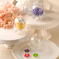 Wholesale Decoration Cake Boxes - FREE SHIPPING 12PCS Acrylic Clear Mini Cake Stand Baby Shower Party Gifts Birthday Favors Holders Kids' Party Decoration Supplies Ideas