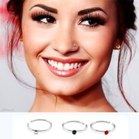 Wholesale Cheap Man Clip - Clip On Fake Nose Hoop Ring Ear Septum Lip Earrings Body Non Piercing,Cheap Body Jewelry For Women Men 7286