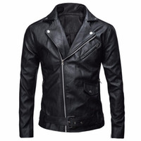 Wholesale Lether Jacket Men - Fall-2016 Man Lether Jackets Pu Leather Jaqueta Masculinas Inverno Couro Jacket Men Jaquetas De Couro Men's Winter Leather Jacket