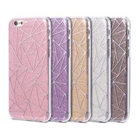 Wholesale Diamond Bling Heart Iphone - For iPhone 7 6 6S Plus 5 5S SE Luxury Hybrid Shiny Bling Glitter Case Diamond Star Polka Dot Heart Love Clear Soft TPU Back Case
