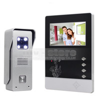 Wholesale Tft Led Color Monitor - Video Door Phone Intercom 4.3 inch TFT Color LCD Display Aluminum Alloy CCD Camera Doorbell LED Color Night Vision