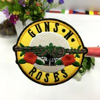 "Wholesale Rock Band Patches - new arrive music ""GUNS N' ROSES "" Rock Band Iron On Sew Applique Embroidered Patch"
