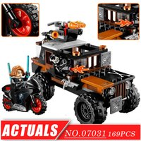 coches modelo de película al por mayor-Model Building Blocks Toy Hero serie Captain 3 Car Movie TV cifras conjunto lepine 07031 DIY clásico niños ladrillos de construcción juguetes