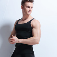 Wholesale Thin White Tank Tops Wholesale - Wholesale- 2017 Men tank top bodybuilding clothes thin ice silk slim fit seemless vest men top clothing quick dry