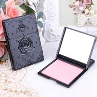 Wholesale Mirrored Rose Compact - Wholesale-Rose Vintage mini pocket makeup mirror cosmetic compact Single sided mirrors Makeup Cleaning Oil Absorbing Face Paper