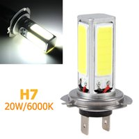 Wholesale Day Driving Led Bulb Car - 20W H7 Super High Power COB LED White Car Light for Fog Lamp Driving DRL Day Time Running 6000K CEC_471