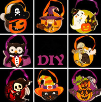 Halloween Gift Bags DIY Papel Decoraciones de Halloween Candy Bag Drawstring Niños Trick or Treat Bag Niños Calabaza Bolsos Bolsas de regalo OOA3170