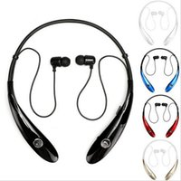 Wholesale Earphones For Android Phones - Earphones HBS 900 HBS-900 Bluetooth Headphones Handfree Wireless Sport Neckband In - ear Stereo Earphones for Android or IOS cell phone